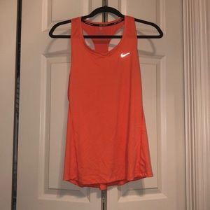 Neon peach Nike running tank top!